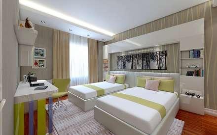 غرفة نوم مراهقين  تنفيذ TT Yapı Mimarlık