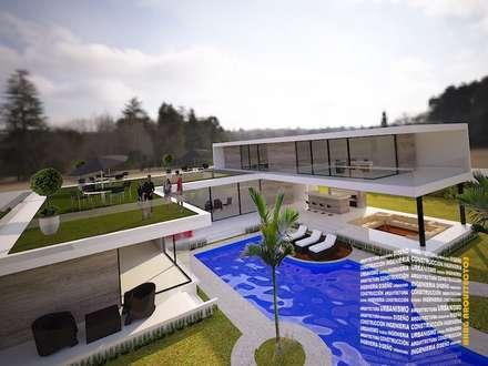 مسبح حديقة تنفيذ HHRG ARQUITECTOS