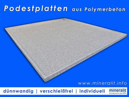 Podestplatten aus Polymerbeton - beständig wie ein Granit:  Boden von Mineralit - Mineralgusswerk Laage GmbH