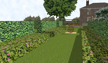 Hertfordshire Country Estate Garden (Braughing):  Zen garden by Aralia