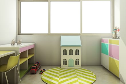 asian Nursery/kid's room by Spaces Alive