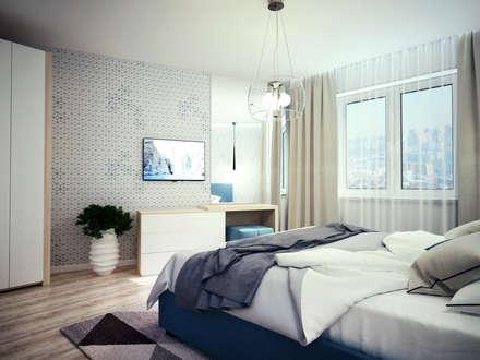 scandinavian Bedroom by Айрис Эстет