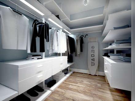 scandinavian Dressing room by Айрис Эстет