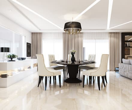 Interiors: asian Dining room by Spaces Alive