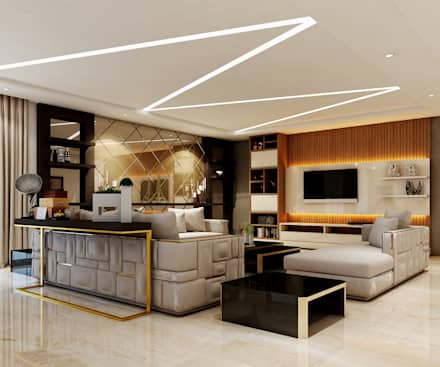 asian Living room by Spaces Alive