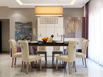 Interiors: mediterranean Dining room by Spaces Alive