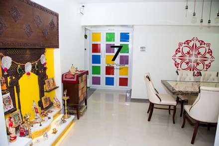 3bhk Residence at goregoan , mumbai: asian Dining room by The 7th Corner - Interior Designer