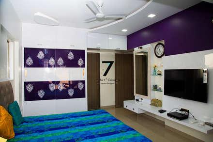 3bhk Residence at goregoan , mumbai: asian Bedroom by The 7th Corner - Interior Designer