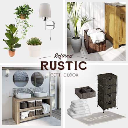Rustic accessories: rustic Bathroom by Victoria Plum