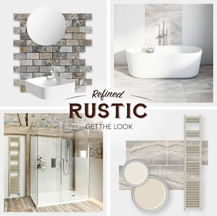Rustic wall coverings: rustic Bathroom by Victoria Plum