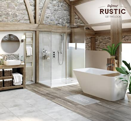 Rustic Retreat: rustic Bathroom by Victoria Plum