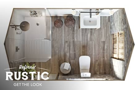 rustic small spaces: rustic Bathroom by Victoria Plum