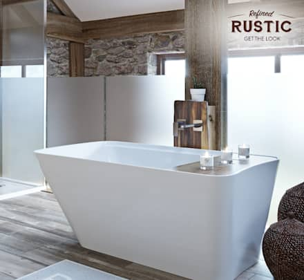 rustic small space bath: rustic Bathroom by Victoria Plum