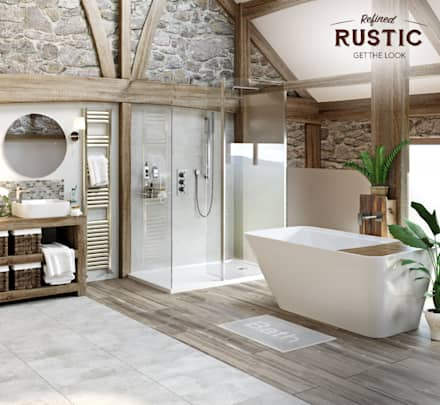 rustic small room: rustic Bathroom by Victoria Plum