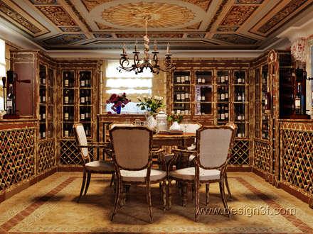 ห้องเก็บไวน์ by студия Design3F