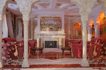 Интерьер гостиной в восточном стиле: Гостиная в . Автор – студия Design3F