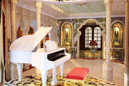 Роскошный холл в восточном стиле: Гостиная в . Автор – студия Design3F