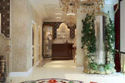 Комната отдыха в восточном стиле: Гостиная в . Автор – студия Design3F
