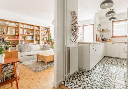 Piso - Paris 20: Cocinas de estilo escandinavo de CLAAAC interiorismo y diseño