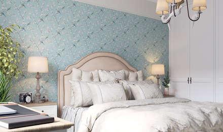Квартира на Ломоносовском проспекте: Спальни в . Автор – 3D GROUP