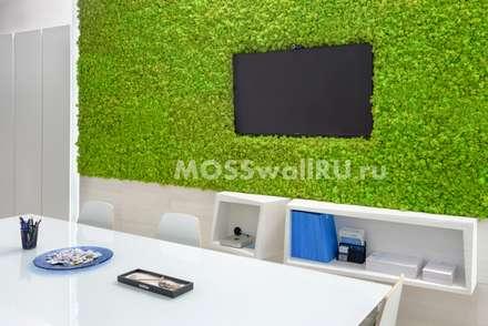 Использование стабилизированного мха в офисе: Офисные помещения в . Автор – MOSSwallRU Стабилизированный Мох