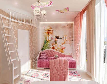 غرفة نوم مراهقين  تنفيذ Студия дизайна Татьяны Лазурной