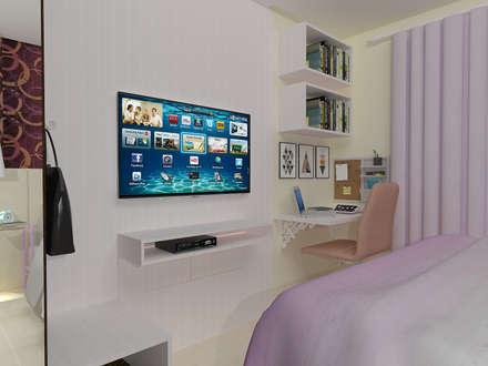 ห้องนอน by Janaira Morr & Rachel Maia