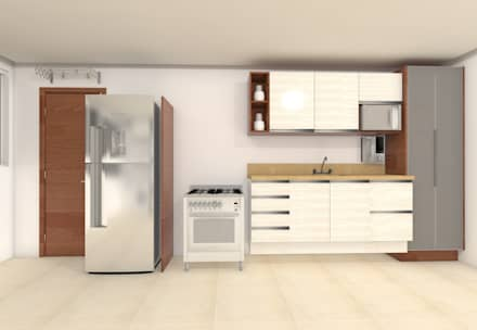 Kitchen units by Janaira Morr & Rachel Maia