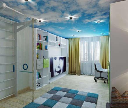 غرفة الاطفال تنفيذ Студия дизайна Татьяны Лазурной