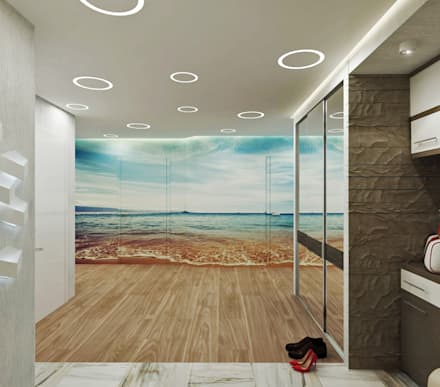 Corridor & hallway by Студия дизайна Татьяны Лазурной