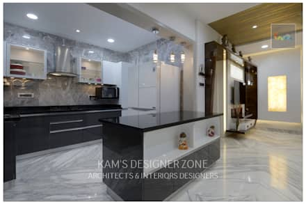 Modular Kitchen Interior Design:  Kitchen units by KAM'S DESIGNER ZONE