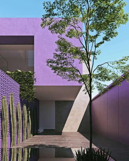 庭院池塘 by Obed Clemente Arquitecto