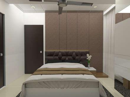 Residence Interiors: asian Bedroom by URBAIN DEZIN STUDIO