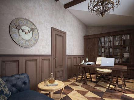 Кабинет на мансарде : Рабочие кабинеты в . Автор – Alt дизайн