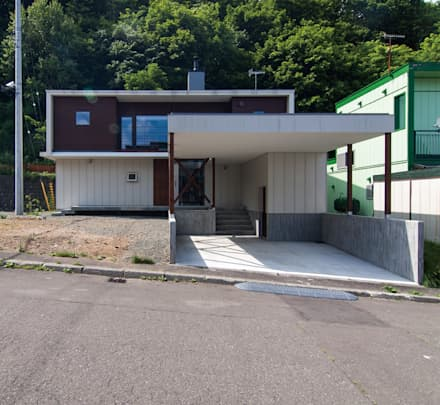 Rumah pasif by 株式会社 ATELIER O2