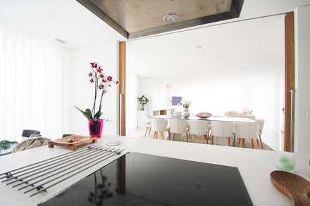 Moradia em Baião: Cozinhas modernas por SOUSA LOPES, arquitectos