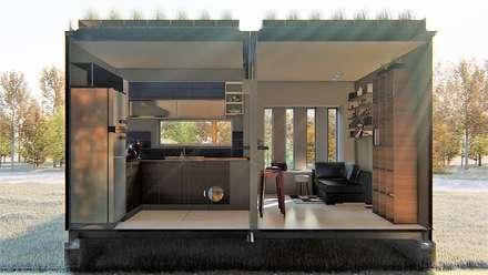 casa bioclimatica: Paredes de estilo  por steel