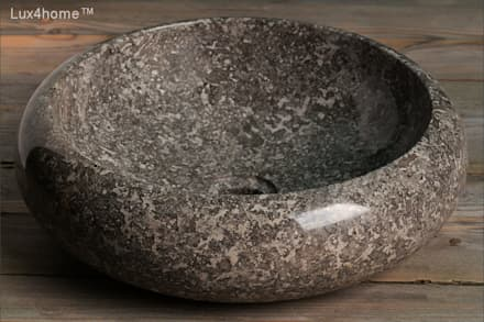 Graphite sinks - graphite marble wash basins - stone vessel sink: colonial Bathroom by Lux4home™ Indonesia