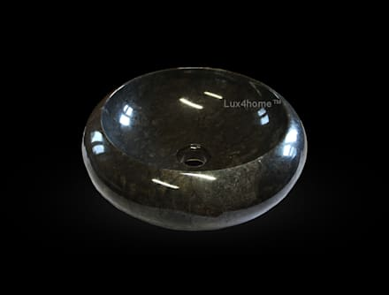 Black sink - vanity marble stone sink - black wash basins: asian Bathroom by Lux4home™ Indonesia