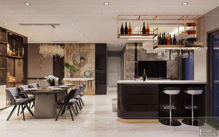 THIẾT KẾ NỘI THẤT CĂN HỘ: Kết hợp Neoclassic và Contemporary style:  Nhà bếp by ICON INTERIOR