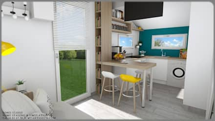 Aménagements studios: Chambre de style de style Moderne par Art's Déco val d'oise
