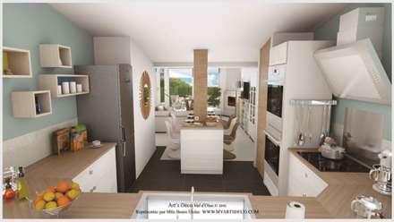Projet1: Salle à manger de style de style Moderne par Art's Déco val d'oise
