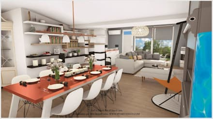 Projet2: Salle à manger de style de style Moderne par Art's Déco val d'oise