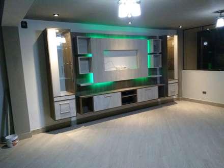 minimalistic Media room by MARSHEL DUART SRL
