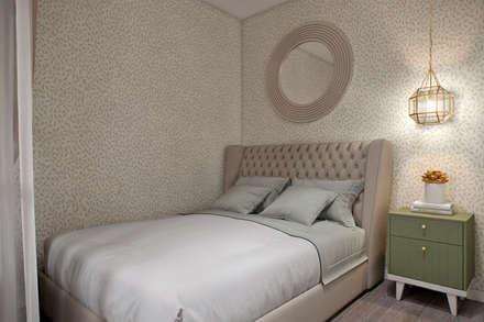 Апартаменты  40 кв.м., в стиле эклектика ЖК I*m.: Спальни в . Автор – Студия архитектуры и дизайна Дарьи Ельниковой
