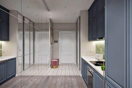 Апартаменты  40 кв.м., в стиле эклектика ЖК I*m.: Коридор и прихожая в . Автор – Студия архитектуры и дизайна Дарьи Ельниковой