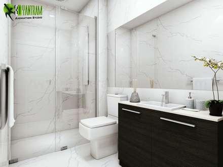 Fantastic Bathroom Interior Rendering Design: classic Bathroom by Yantram Architectural Design Studio