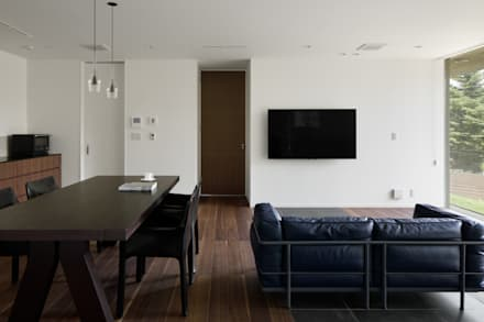 054那須Mさんの家: atelier137 ARCHITECTURAL DESIGN OFFICEが手掛けたダイニングです。
