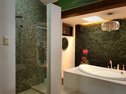 Master Toilet and Bath: eclectic Bathroom by SNS Lush Designs and Home Decor Consultancy