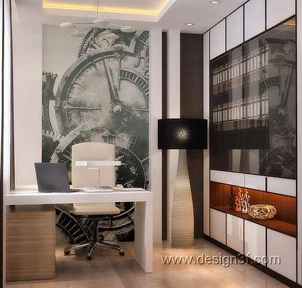 Маленький кабинет в современном стиле: Рабочие кабинеты в . Автор – студия Design3F